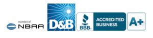 Mercury Jets NBAA, D&B, BBB icons